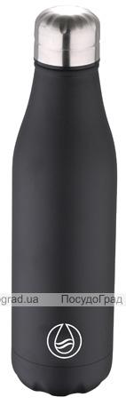 Термос-пляшка Bergner Walking Anywhere 500мл, чорна