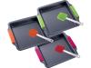 Форма для выпечки противень стальной Bergner 30x26.5x4см с силиконовыми ручками