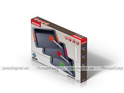 Форма для выпечки противень стальной Bergner 40.4x26.5x4.3см с силиконовыми ручками
