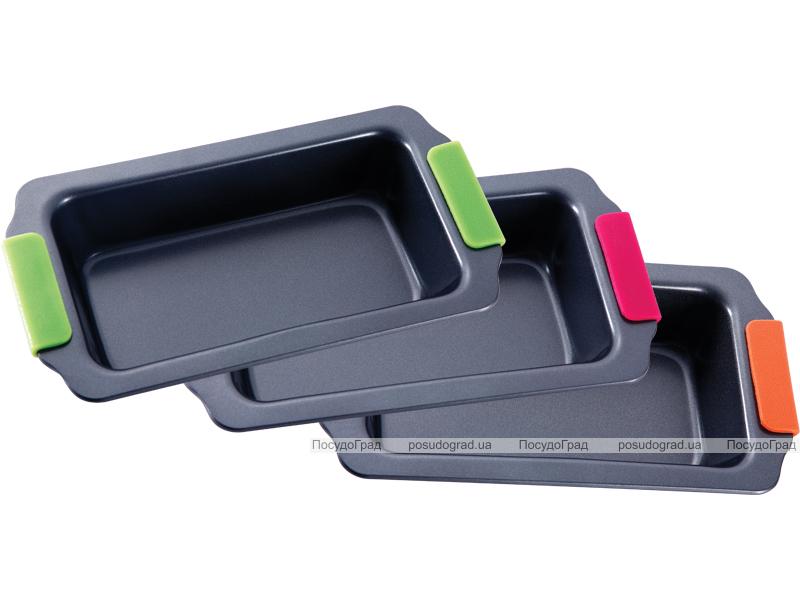 Форма для выпечки стальная Bergner 30.5x16.8x6см с силиконовыми ручками