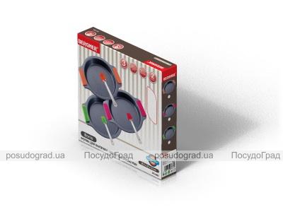 Форма для выпечки стальная Bergner 23x3.3см с силиконовыми ручками