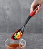 Ложка кухарська з прорізями Bergner Mars 34х7х4см, нейлон, чорно-червоний