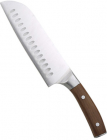 Нож сантоку Bergner Wolfsburg 17.5см с деревянной ручкой