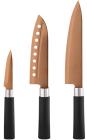 Набір 3 кухонні ножі Bergner Samurai Сopper нержавіюча сталь