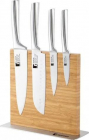 Набір ножів Bergner Kobe 4 ножа на бамбуковій підставці