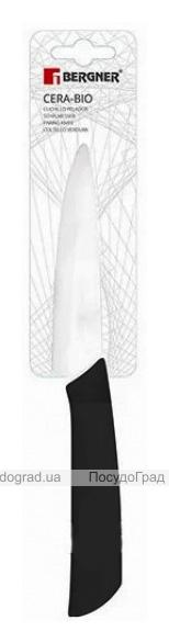 Ніж для чищення овочів Bergner Cera-Bio 9см керамічне лезо