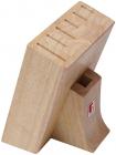 Колода-підставка для ножів Bergner дерев'яна, 7 секцій