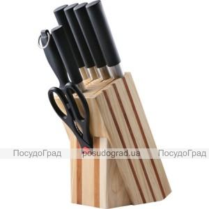 Набор ножей Bergner 4032 8 предметов Японские ножи на деревянной подставке