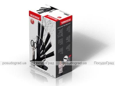 """Набор ножей Bergner 4072 """"Черный веер"""" 7 предметов"""