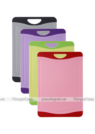 Доска разделочная Bergner пластик с антибактериальным покрытием 25х19см