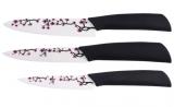 Набор керамических ножей Bergner 3 предмета Ветка сакуры