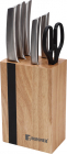 Набор кухонных ножей Bergner Ordos 6 предметов на деревянной подставке