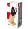Набор кухонных ножей Bergner Reliant 5 ножей, ножницы и деревянная колода 94RD