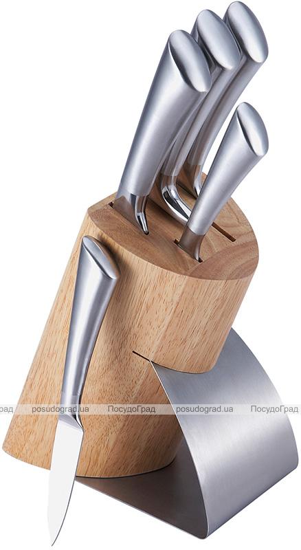 Набор кухонных ножей Bergner Rossano 5 ножей на подставке