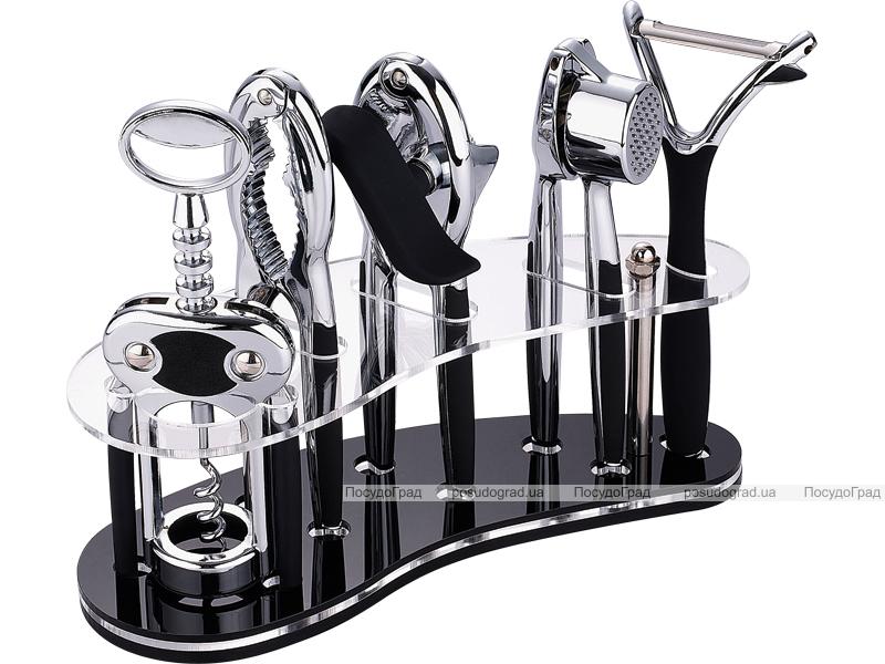 Набор аксессуаров Bergner 6 предметов. Барсет на пластиковой подставке.