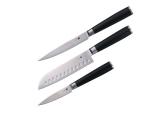 Набір ножів з дамаської сталі Bergner 3 предмета