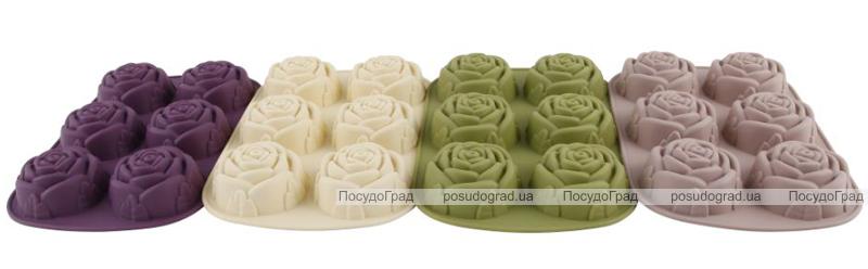 Форма силиконовая для выпечки Bergner 6 роз