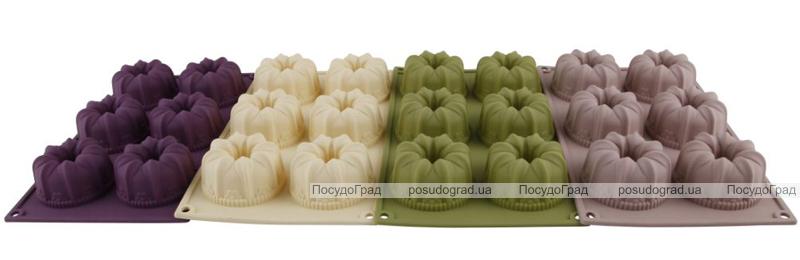 Форма силиконовая для выпечки Bergner 6 тортиков