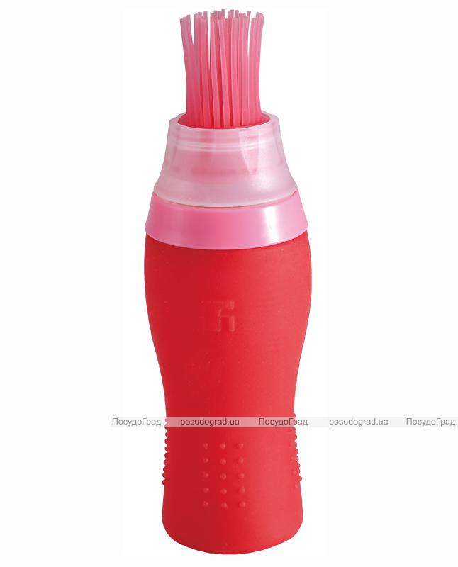 """Емкость для масла Bergner """"Color Cook"""" силиконовая 150мл с кисточкой"""
