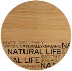 Доска разделочная Bergner Natural Life круглая Ø30см бамбук