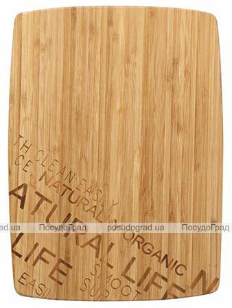 Доска разделочная Bergner Natural Life 30х22х1.5см бамбук