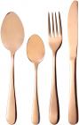 Набор столовых приборов Bergner Copper 24 предмета на 6 персон, медный цвет