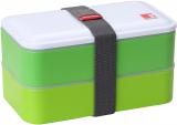 Ланч-бокс Bergner Crescent 1200мл 2 секции с приборами, зеленый