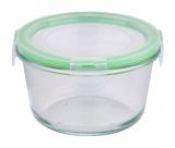 Контейнер стеклянный Bergner Glass Box Green 500мл с пластиковой крышкой