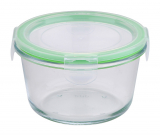 Контейнер скляний Bergner Glass Box Green 500мл з пластиковою кришкою