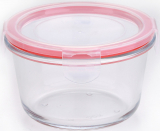Контейнер скляний Bergner Glass Box Red 500мл з пластиковою кришкою