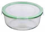 Контейнер скляний Bergner Glass Box Green 800мл з пластиковою кришкою