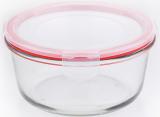 Контейнер стеклянный Bergner Glass Box Red 800мл с пластиковой крышкой