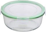 Контейнер скляний Bergner Glass Box Green 1200мл з пластиковою кришкою