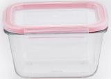 Контейнер скляний Bergner Glass Box Red 450мл з пластиковою кришкою