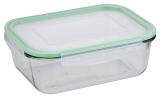 Контейнер стеклянный Bergner Glass Box Green 1500мл с пластиковой крышкой