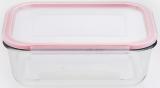 Контейнер стеклянный Bergner Glass Box Red 1500мл с пластиковой крышкой