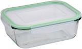 Контейнер скляний Bergner Glass Box Green 2000мл з пластиковою кришкою