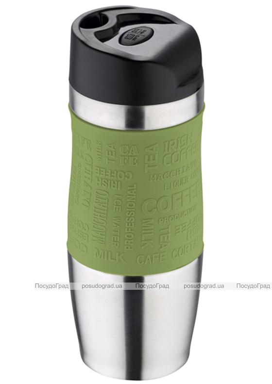 Термокружка Bergner Vacuum Travel 400мл с силиконовой накладкой