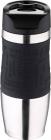 Термокружка Bergner Vacuum Travel Black 400мл с силиконовой накладкой