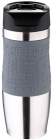 Термокружка Bergner Vacuum Travel Grey 400мл с силиконовой накладкой