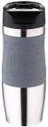 Термокружка Bergner Vacuum Travel Grey 400мл з силіконовою накладкою