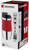 Термокружка Bergner Vacuum Travel Red 400мл з силіконовою накладкою