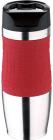 Термокружка Bergner Vacuum Travel Red 400мл с силиконовой накладкой