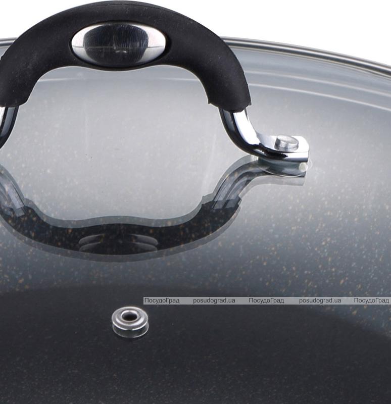 Сотейник Bergner Pandora Ø28см с крышкой, индукционный с антипригарным покрытием
