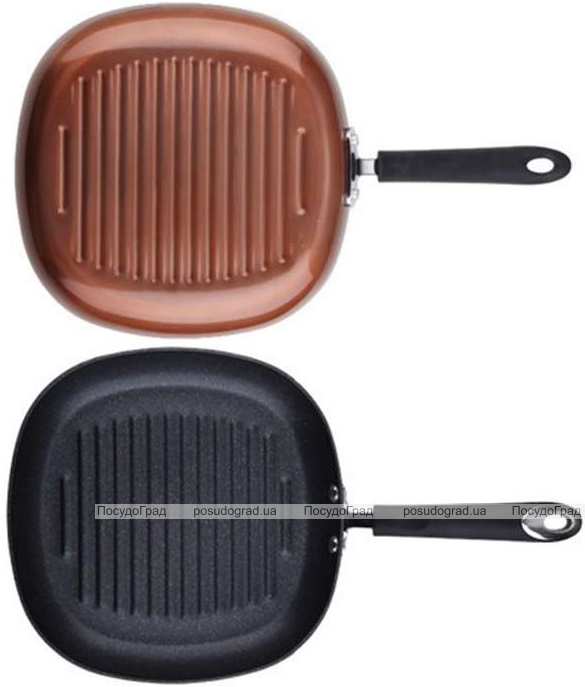 Сковорода-гриль Bergner Pandora 28х28см індукційна