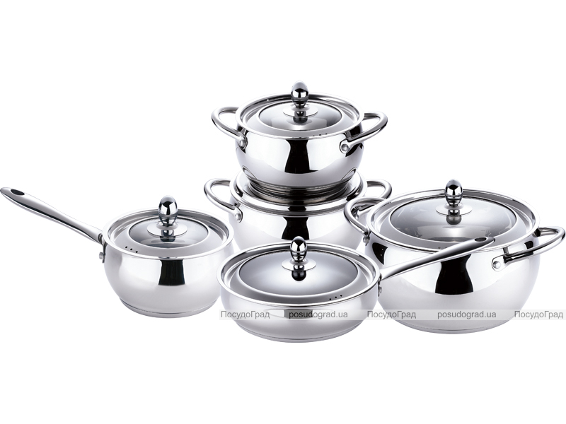 Набор кухонной посуды Bergner Core 10 предметов