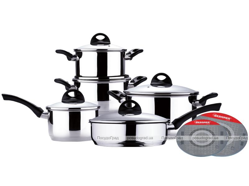 Набор кухонной посуды Bergner Odele 12 предметов со сковородой с антипригарным покрытием