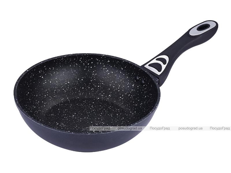 Сковорода-вок Bergner Saga Marble Ø26см без крышки