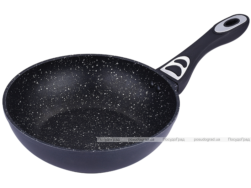 Сковорода-вок Bergner Saga Marble Ø30см без крышки