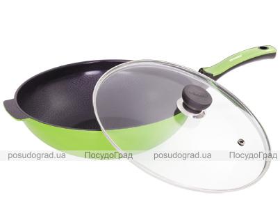 Сковорода-вок Bergner Flowery 30см с крышкой